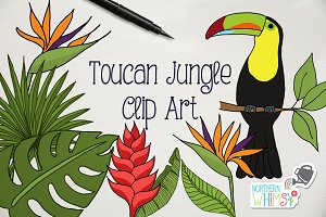 Toucan Jungle Clip Art