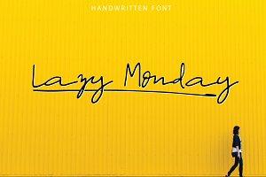 Lazy Monday | Script Font