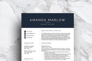 Modern resume template (1, 2 & 3 pg)