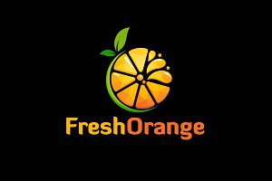 Fresh Orange Slice Logo Designs