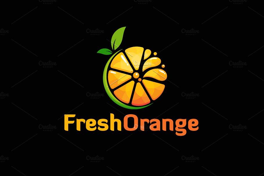 Fresh Orange Slice Logo Designs
