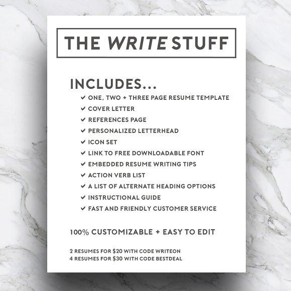 3 page resume template cv resume templates creative market