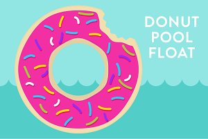 Vector Donut Pool Float