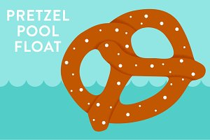 Vector Pretzel Pool Float