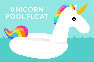 Vector Unicorn Pool Float