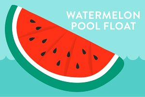 Vector Watermelon Pool Float