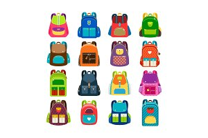 Kids cartoon schoolbag set