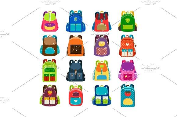 Kids Cartoon Schoolbag Set