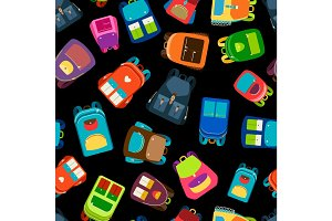 Schoolbags seamless pattern