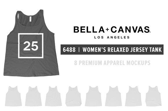 Free Bella Canvas 6488 Women's Tank Mocks