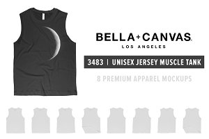 Bella Canvas 3483 Muscle Tank Mocks