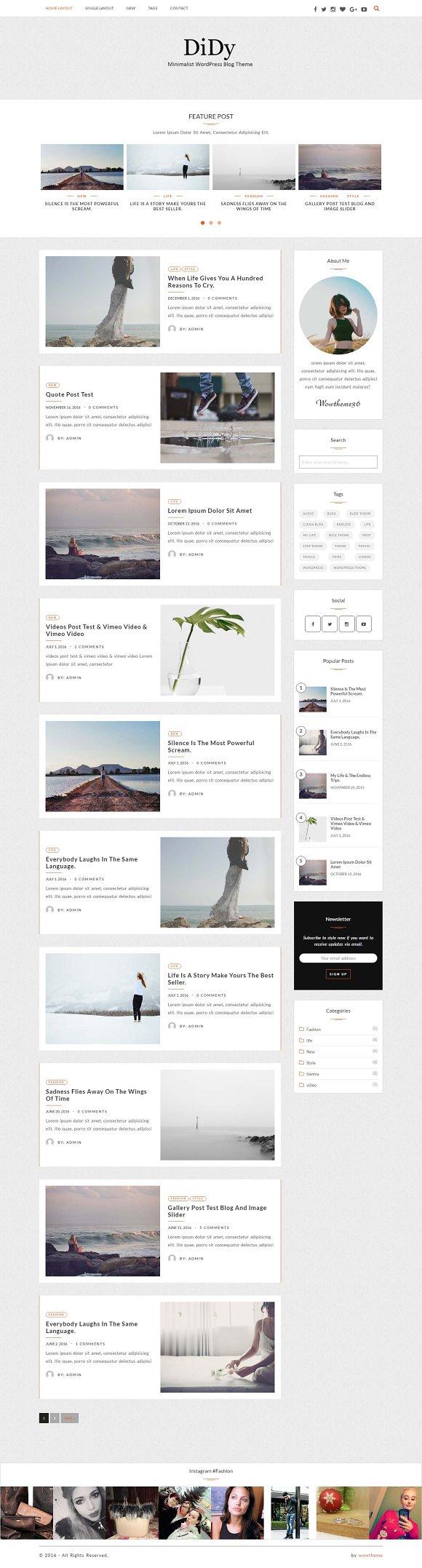 Dycolor WordPress Blog Theme