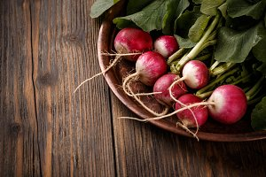 Close up of fresh radishes