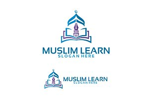 Muslim Learn Logo Template designs