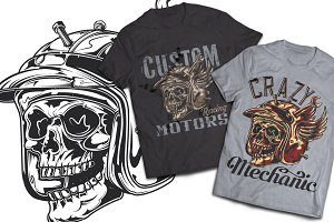 Mechanic T-shirts And Poster Labels