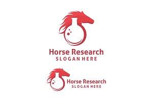 Horse Research Logo template designs