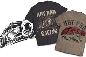 Hotrod T-shirts And Poster Labels