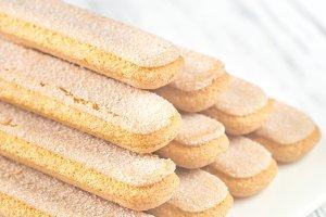 Ladyfinger biscuits (savoiardi)