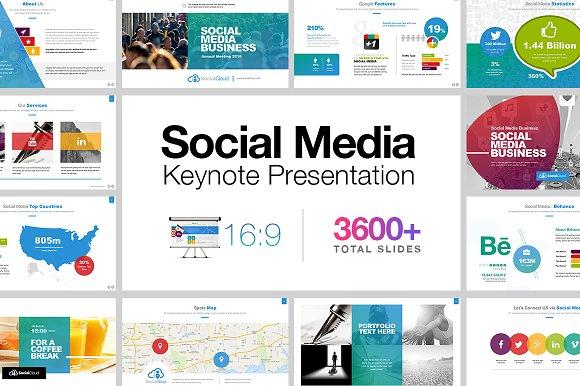social media keynote presentation presentation templates