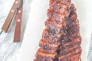 Grilled pork ribs