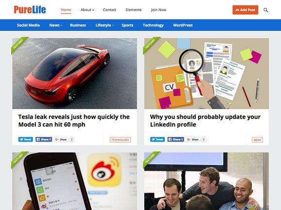 PureLife Blog Magazine Theme