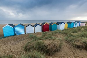 Colourful Beach Huts, Southwold