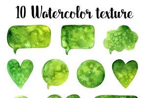 10 Green watercolor texture