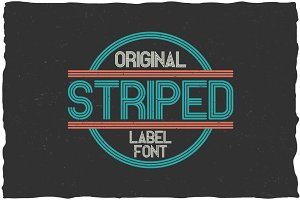 Striped Vintage Label Typeface