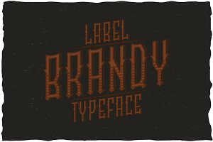 Brandy Vintage Label Typeface