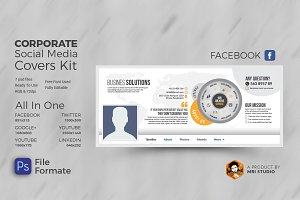 Corporate Social Media Covers Kit