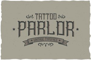 Tattoo Parlor Vintage Label Typeface
