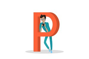Gadget Alphabet. Letter - P