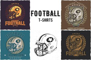 Football  T-shirts Designs