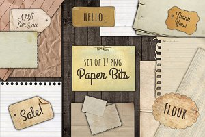 Paper Bits and Scraps Graphic Set