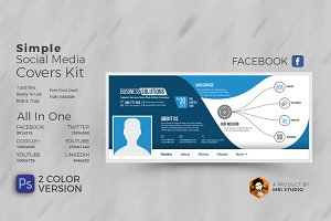 Simple Social Media Covers Kit