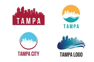 4 Tampa City Landscape Logo Template