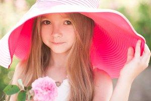 Cute kid girl closeup