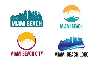 4 Miami Beach City Landscape Logo