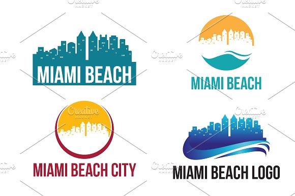 4 Miami Beach City Landscape Logo