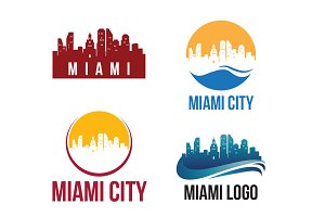 4 Miami City Landscape Logo