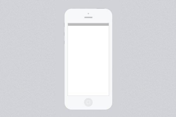 Minimal White Iphone 5 Psd Template Mobile Web Mockups Creative Market