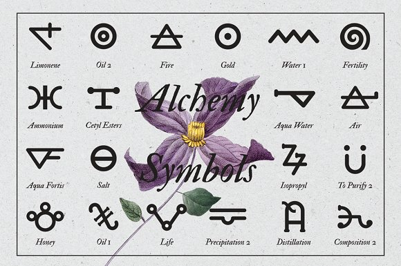 Alchemy Symbols Pack Graphic Objects Creative Market