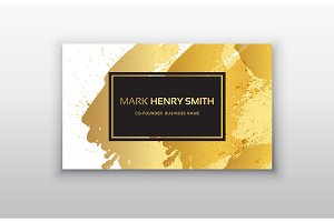 Black and Gold Design Templates for Brochures, Flyers, Mobile Technologies and Online Services