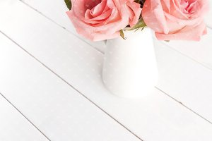 Pink roses stock photography #0417