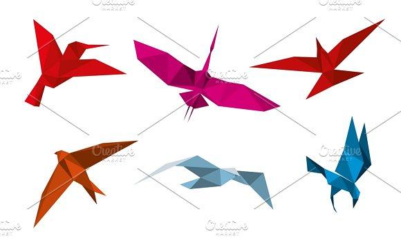 Vector Origami Birds