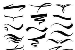 Vector lettering underlines set
