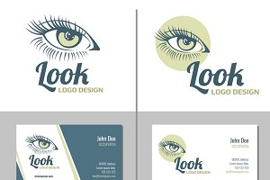 Business card with woman eye logo