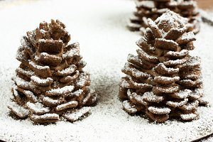 Snow Covered Pinecone Cookies