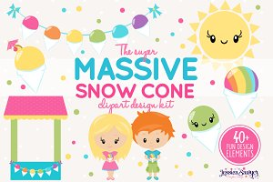 Snowcone Party Clipart Pack