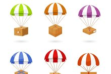 Colorful Parachute Carrying Boxes